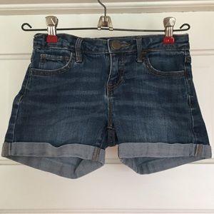 Gap Kids Girls size 8 cuffed jean short
